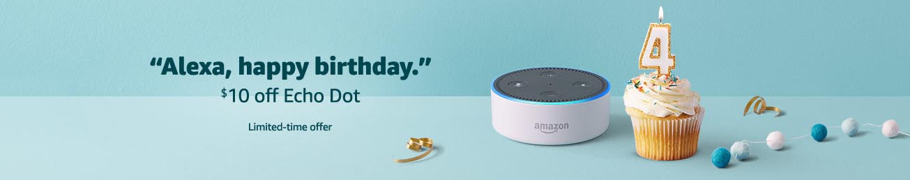 2018 Early Black Friday $10 off promo for Echo Dot by Amazon