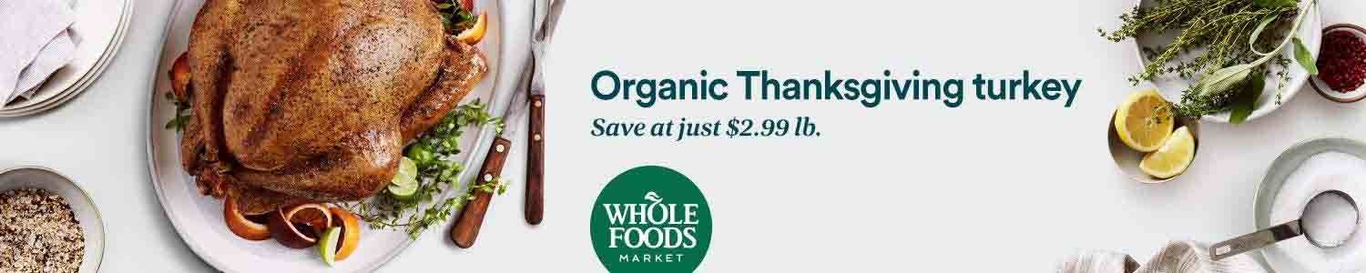 Amazon Whole Foods Market Deals on Turkey