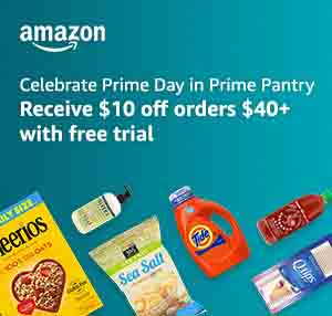 PROMO CODE 'PANTRY' FOR $10 OFF $40 AMAZON PRIME PANTRY PURCHASE