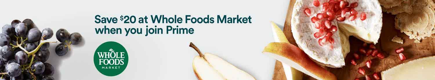 Extra 10% off in savings for Whole Foods with Amazon Prime Member