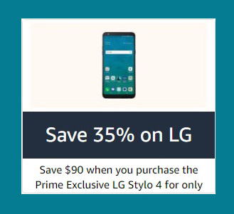 $80 off promo on exclusive phones for Amazon Prime Member