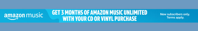 Free 3 months Amazon Music Unlimited with a purchase of CD or vinyl