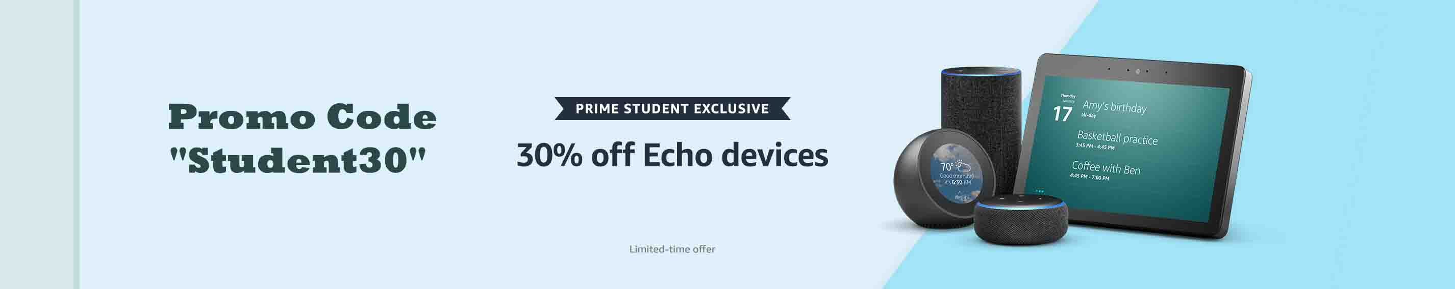 promo code for Amazon Echo devices