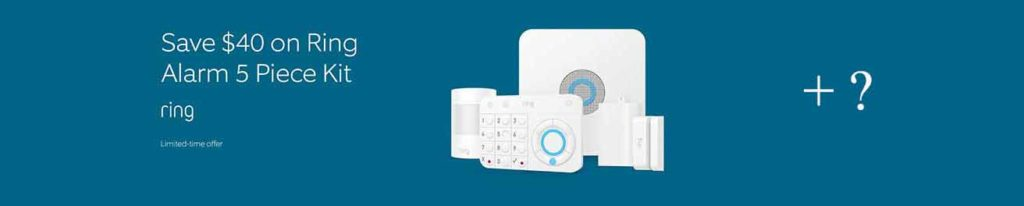 PROMO FOR RING ALARM 5 PIECE KIT + A FREE AMAZON ECHO DOT