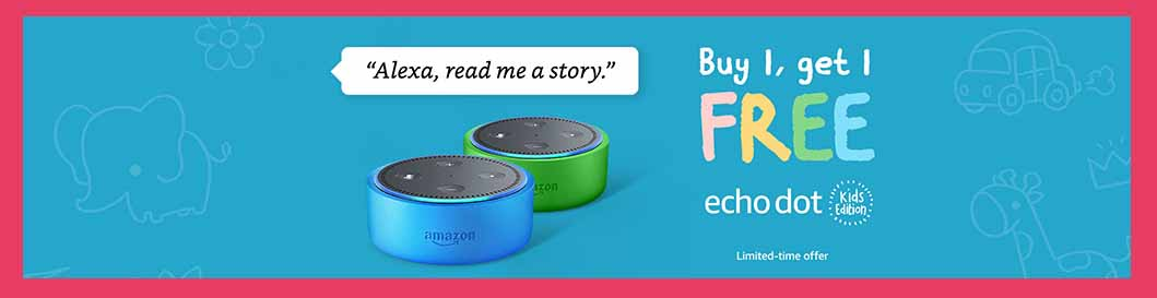 promo code 'KIDS2PACK' for Echo Dot Kids Edition