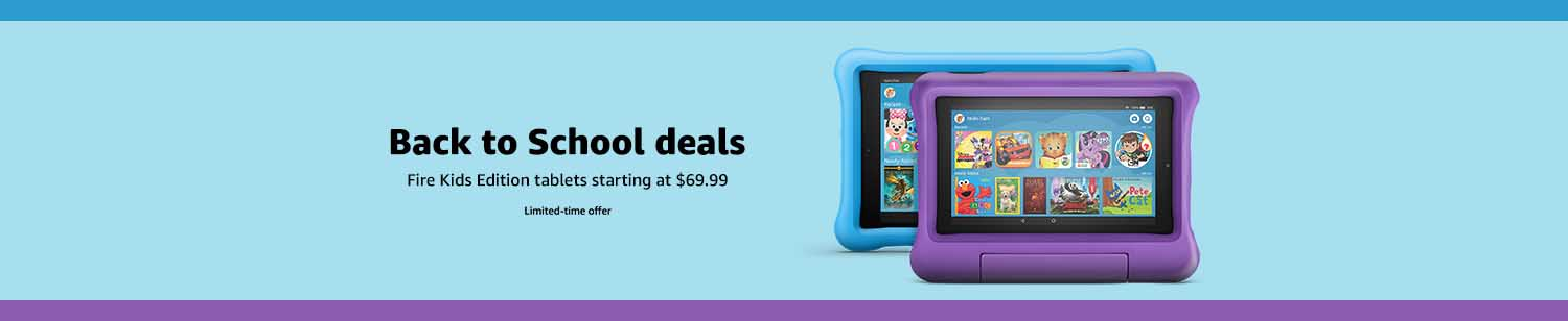 Monthly promos for Fire HD 6 HD 7 Kids Edition