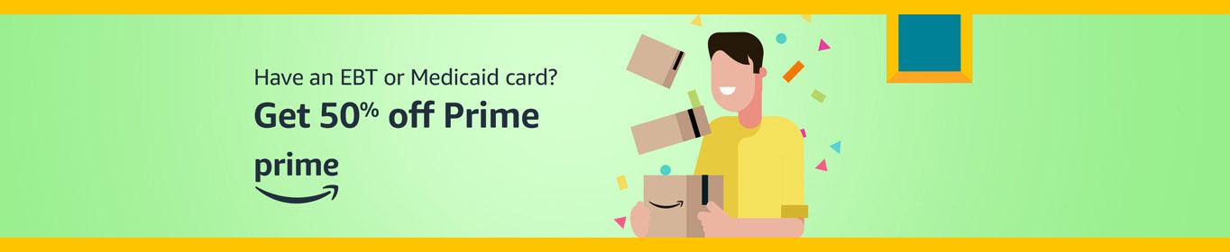 50% off Amazon Prime