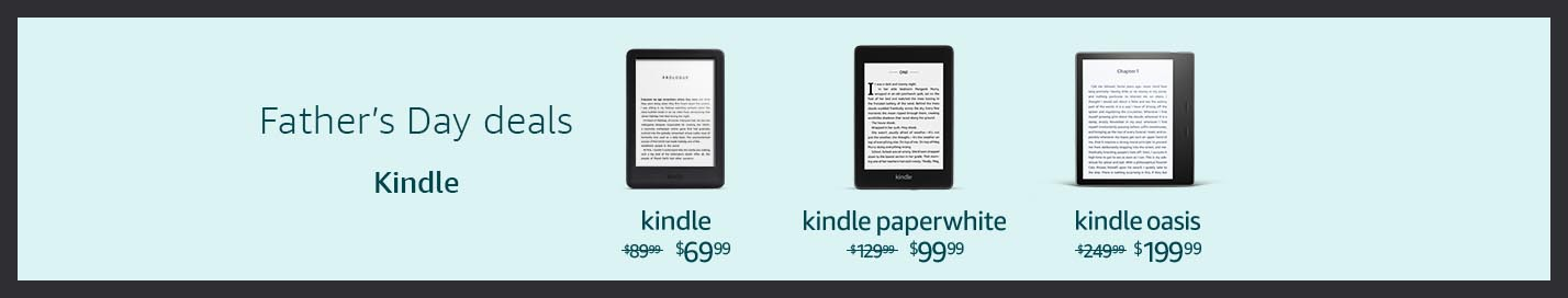 Extra $20 off Father's Day promos on Kindles & more by Amazon