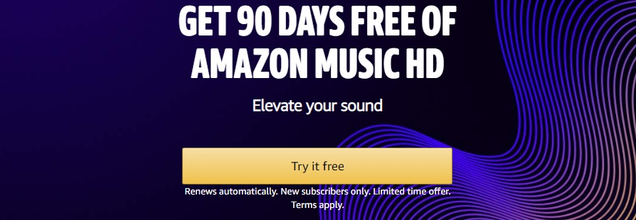 3-months of Amazon Music HD free