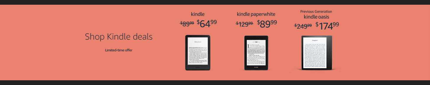 MONTHLY PROMOS FOR AMAZON KINDLE PAPERWHITE, KINDLE DEVICES