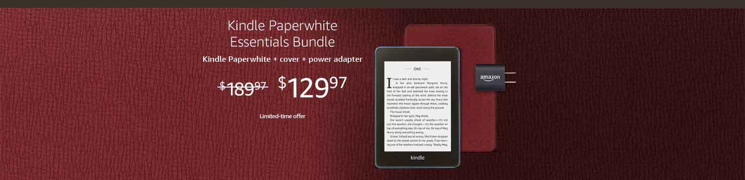 PROMOS FOR AMAZON KINDLE PAPERWHITE, KINDLE DEVICES, GIFT BUNDLE