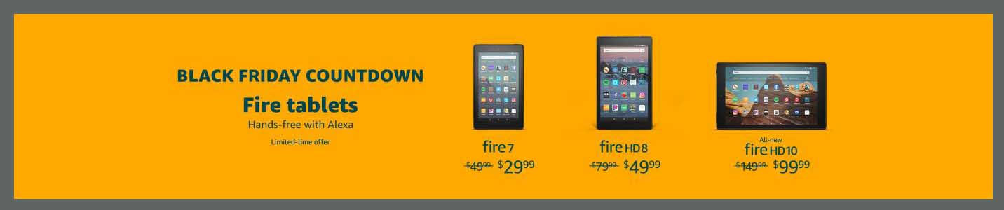 promos on Amazon Fire tablets