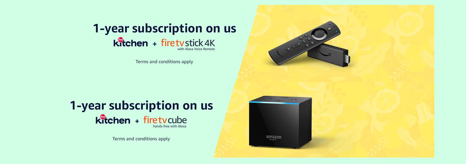 Promos for Fire TV Cube /Fire TV Stick