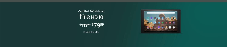 Certified Refurbished Fire HD 10