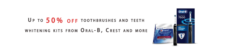 toothbrushes and teeth whitening kits