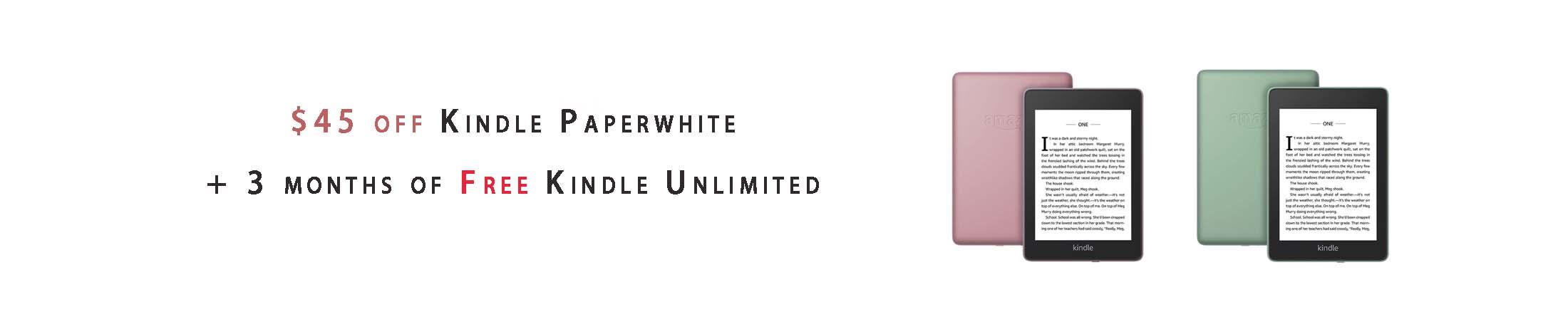 Kindle Paperwhite deals