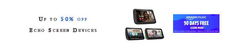 Echo Screen Device promos